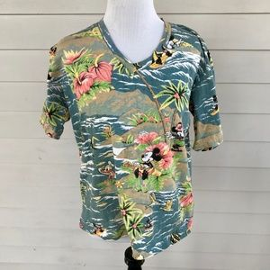 Vintage Jerry Leigh Walt Disney Hawaiian Shirt